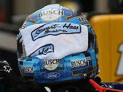 February 23, 2019 - Hampton, GA, U.S. - HAMPTON, GA - FEBRUARY 23: The helmet of Kevin Harvick, Stewart-Haas Racing, Ford Mustang Busch Beer (4) sits on the car during practice for the Monster Energy Cup Series QuikTrip Folds of Honor 500 on February 23, 2019, at Atlanta Motor Speedway in Hampton, GA.(Photo by Jeffrey Vest/Icon Sportswire) (Credit Image: © Jeffrey Vest/Icon SMI via ZUMA Press)