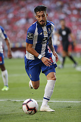 October 7, 2018 - Lisbon, Portugal - Alex Telles of Porto  in action  during the Portuguese League football match between SL Benfica and FC Porto at Luz Stadium in Lisbon on October 7, 2018. (Credit Image: © Carlos Palma/NurPhoto/ZUMA Press)