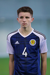 EDINBURGH, SCOTLAND - Sunday, October 30, 2016: Scotland's Taylor Wilson lines-up to face Northern Ireland before the opening match of the Under-16 2016 Victory Shield at ORIAM. (Pic by David Rawcliffe/Propaganda)