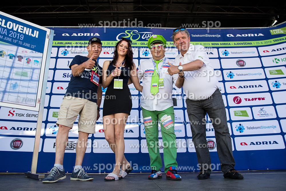 Janko Hrovat, Manja Dobrilovic, Aleksander Javornik and Dare Rupar at trophy ceremony during 3rd Stage of 26th Tour of Slovenia 2019 cycling race between Zalec and Idrija (169,8 km), on June 21, 2019 in Slovenia. Photo by Matic Klansek Velej / Sportida