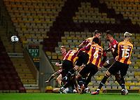 Lincoln City's Lewis Montsma scores his side's third goal<br /> <br /> Photographer Chris Vaughan/CameraSport<br /> <br /> Carabao Cup Second Round Northern Section - Bradford City v Lincoln City - Tuesday 15th September 2020 - Valley Parade - Bradford<br />  <br /> World Copyright © 2020 CameraSport. All rights reserved. 43 Linden Ave. Countesthorpe. Leicester. England. LE8 5PG - Tel: +44 (0) 116 277 4147 - admin@camerasport.com - www.camerasport.com