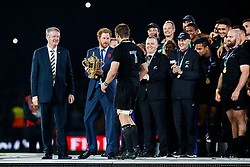 after New Zealand win the match 34-17 to become 2015 World Cup Champions - Mandatory byline: Rogan Thomson/JMP - 07966 386802 - 31/10/2015 - RUGBY UNION - Twickenham Stadium - London, England - New Zealand v Australia - Rugby World Cup 2015 FINAL.