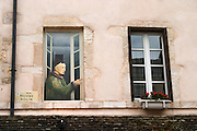 trompe l'oeil painted window r n rolin beaune cote de beaune burgundy france