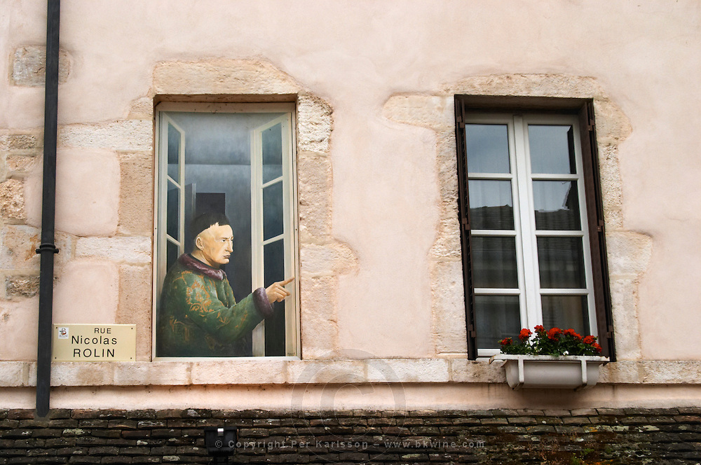 trompe l'oeil painted window r n rolin beaune cote de beaune burgundy france