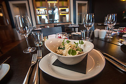 Tam Cowan's restaurant review at The Place Hotel, 34-38 York Place, Edinburgh. The mushroom and spinach risotto.