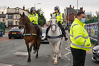 Football - 2019 / 2020 Premier League - Liverpool vs Chelsea<br /> Mounted Police, at Anfield<br /> <br /> Credit: COLORSPORT/TERRY DONNELLY