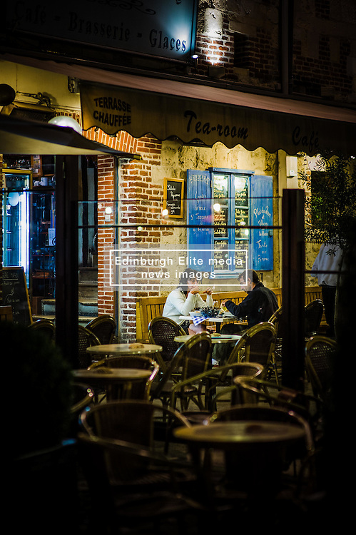 Late night dining in Honfleur Normandy France