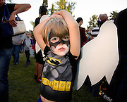 Children participate in Little Angels, the annual family-friendly event acknowledging and celebrating deceased loved ones from the perspective of the child and part of the All Souls Procession in Tucson, Arizona, USA.
