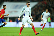 Jamie Vardy of England looking on. England v Spain, Football international friendly at Wembley Stadium in London on Tuesday 15th November 2016.<br /> pic by John Patrick Fletcher, Andrew Orchard sports photography.