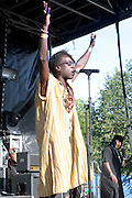 """August 27, 2016- Brooklyn, New York-United States: Recording Artist/Actor Saul Williams performs at the 2016 AfroPunk Brooklyn Concert Series held at Commodore Barry Park on August 27, 2016 in Brooklyn, New York City. Described by some as """"the most multicultural festival in the US,"""" which includes an eclectic line-up and an audience as diverse as the acts they come to see. (Photo by Terrence Jennings/terrencejennings.com)"""