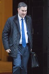 Downing Street, London, November 29th 2016. Chief Secretary to the Treasury David Gauke leaves 10 Downing Street following the weekly cabinet meeting.