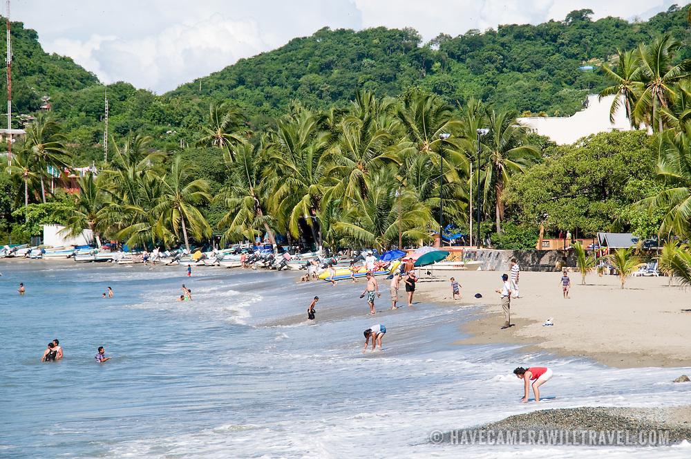Beach at Playa Principal, Zihuatanejo, Mexico