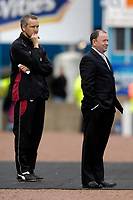 Photo: Jed Wee/Sportsbeat Images.<br /> Carlisle United v Bristol City. Coca Cola League 1. 21/04/2007.<br /> <br /> Bristol City manager Gary Johnson (R) with assistant Keith Millen.