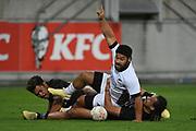 Ray Nu'u scores a try in the All Blacks Sevens match, Sky Stadium, Wellington, Sunday, April 11, 2021. Copyright photo: Kerry Marshall / www.photosport.nz