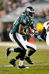 Philadelphia Eagles wide receiver Jeremy Maclin #18 blocks during the NFL game between the Denver Broncos and the Philadelphia Eagles on December 27th 2009.  At Lincoln Financial Field in Philadelphia, Pennsylvania. (Photo By Brian Garfinkel)