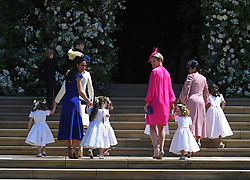 Bridesmaids and pageboys arrive for the royal wedding ceremony of Britain's Prince Harry and Meghan Markle at St George's Chapel in Windsor Castle, in Windsor, Britain, 19 May 2018. Photo by Neil Hall/ABACAPRESS.COM