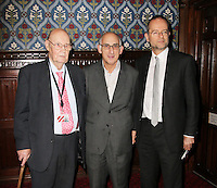 Lord Robert Hughes; David M Thompson; Paul Blomfield MP, Mandela: Long Walk to Freedom screening - The day after Nelson Mandela's state funeral in South Africa, Palace of Westminster, Houses of Parliament, London UK, 16 December 2013, Photo by Richard Goldschmidt