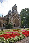 Vajdahunyad castle in Varosliget park, Budapest, Hungary