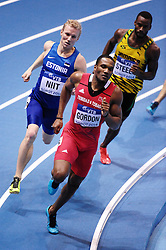 07.03.2014, Ergo Arena, Sopot, POL, IAAF, Leichtathletik Indoor WM, Sopot 2014, Tag 1, im Bild LALONDE GORDON // LALONDE GORDON during day one of IAAF World Indoor Championships Sopot 2014 at the Ergo Arena in Sopot, Poland on 2014/03/07. EXPA Pictures © 2014, PhotoCredit: EXPA/ Newspix/ Piotr Matusewicz<br /> <br /> *****ATTENTION - for AUT, SLO, CRO, SRB, BIH, MAZ, TUR, SUI, SWE only*****