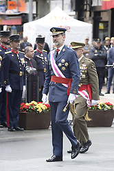 King Felipe VI of Spain attended the Armed Forces Day Homage on May 26, 2018 in Logrono, La Rioja, Spain. Photo by Archie Andrews/ABACAPRESS.COM