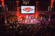 Staff Benda Bilili band perform after their UK film premiere at Union Chapel, London.