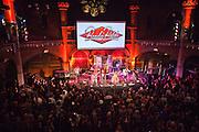 Staff Benda Bilili band perform after their UK film premiere at Union Chapel, London.