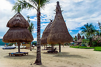 Nusa Tenggara, Lombok, Kuta. Hotel Novotel was built as an imitation of the traditional Sasak style.