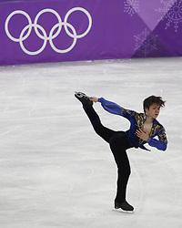 February 17, 2018 - Pyeongchang, KOREA - Shoma Uno of Japan competes in the men's figure skating free skate program during the Pyeongchang 2018 Olympic Winter Games at Gangneung Ice Arena. (Credit Image: © David McIntyre via ZUMA Wire)