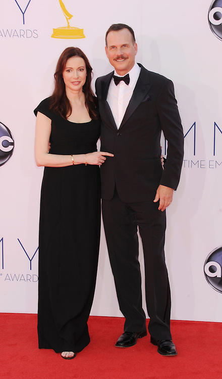 LOS ANGELES, CA - SEPTEMBER 23: Bill Paxton and Louise Newbury arrive at the 64th Primetime Emmy Awards at Nokia Theatre L.A. Live on September 23, 2012 in Los Angeles, California.