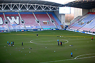 during the EFL Sky Bet League 1 match between Wigan Athletic and Charlton Athletic at the DW Stadium, Wigan, England on 2 March 2021.