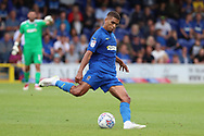 AFC Wimbledon defender Tennai Watson (2) passing the ball during the EFL Sky Bet League 1 match between AFC Wimbledon and Coventry City at the Cherry Red Records Stadium, Kingston, England on 11 August 2018.