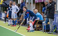 AMSTELVEEN - Jannis van Hattum (a) (Pinoke)  tijdens   hoofdklasse hockeywedstrijd mannen, Pinoke-Kampong (2-5) . COPYRIGHT KOEN SUYK