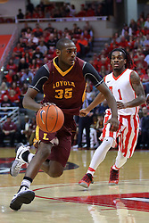19 February 2017:  Milton Doyle during a College MVC (Missouri Valley conference) mens basketball game between the Loyola Ramblers and Illinois State Redbirds in  Redbird Arena, Normal IL