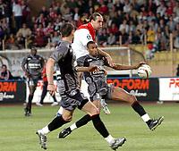 Fotball<br /> Frankrike 2003/04<br /> Monaco v Rennes<br /> 15. mai 2004<br /> Foto: Digitalsport<br /> NORWAY ONLY<br /> <br />  DADO PRSO (MON) / ABDELSEM OUADDOU (REN)