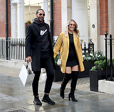 Rio Ferdinand and his fiancèe Kate Wright - 11 Nov 2018