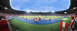 03.06.2011, Ernst Happel Stadion, Wien, AUT, UEFA EURO 2012, Qualifikation, Oesterreich (AUT) vs Deutschland (GER), im Bild die beiden Mannschaften vor dem Spiel, Panorama // the two Teams before the UEFA Euro 2012 Qualifier Game, Austria vs Germany, at Ernst Happel Stadium, Vienna, 2010-06-03, EXPA Pictures © 2011, PhotoCredit: EXPA/ M. Gruber
