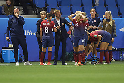 June 27, 2019 - Le Havre, France - Ante Milicic coach of Norway gives instructions during the 2019 FIFA Women's World Cup France Quarter Final match between Norway and England at  on June 27, 2019 in Le Havre, France. (Credit Image: © Jose Breton/NurPhoto via ZUMA Press)