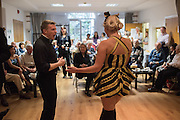 Bees Knees, Soho Society Silver Sunday Tea Dance, St. Anne's Church Hall, Soho, London. 2 October 2016