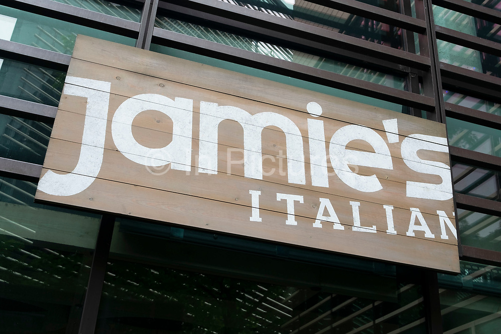 Jamies Italian sign in London, England, United Kingdom.