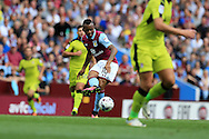 Jordan Ayew of Aston Villa  © in action.  EFL Skybet championship match, Aston Villa v Rotherham Utd at Villa Park in Birmingham, The Midlands on Saturday 13th August 2016.<br /> pic by Andrew Orchard, Andrew Orchard sports photography.