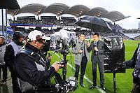 Eric CARRIERE / Gregoire MARGOTTON - 19.04.2015 - Lyon / Saint Etienne - 33eme journee de Ligue 1<br /> Photo : Jean Paul Thomas / Icon Sport