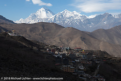 View of Muktinath from the temple above the town on day-6 of our Himalayan Heroes adventure riding from Muktinath to Tatopani, Nepal. Sunday, November 11, 2018. Photography ©2018 Michael Lichter.