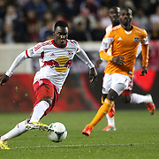 Lloyd Sam, New York Red Bulls, in action during the New York Red Bulls V Houston Dynamo , Major League Soccer second leg of the Eastern Conference Semifinals match at Red Bull Arena, Harrison, New Jersey. USA. 6th November 2013. Photo Tim Clayton