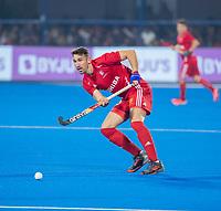 BHUBANESWAR, INDIA - David Condon (Eng)   , England v Australia for the bronze medal during the Odisha World Cup Hockey for men  in the Kalinga Stadion.   COPYRIGHT KOEN SUYK
