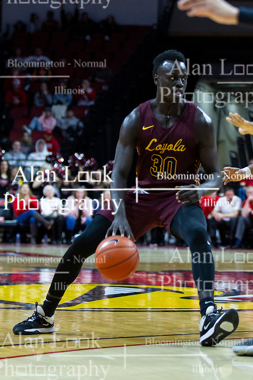 NORMAL, IL - January 19: during a college basketball game between the ISU Redbirds and the Loyola University Chicago Ramblers on January 19 2020 at Redbird Arena in Normal, IL. (Photo by Alan Look)