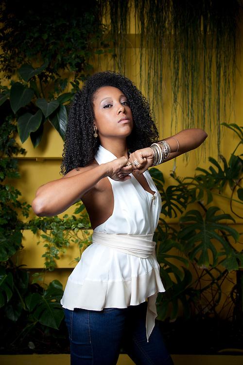 Sao Paulo_SP, Brasil.<br /> <br /> Retrato da cantora Negra Li.<br /> <br /> Portrait of the singer Negra Li.<br /> <br /> Foto: RAQUEL BRUST / NITRO