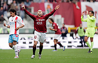 """L'esultanza al fischio finale di Alessandro Rosina (Torino)<br /> Italian """"Serie A"""" 2006-07<br /> 11 Mar 2007 (Match Day 28)<br /> Torino-Catania (1-0)<br /> """"Olimpico""""-Stadium-Torino-Italy<br /> Photographer: Luca Pagliaricci INSIDE"""