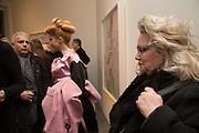 HANIF KUREISHI; PALOMA FAITH; ALEXIS PARR, George Condo - private view . Simon Lee Gallery, 12 Berkeley Street, London, 10 February 2014