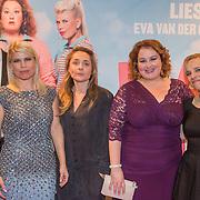 NLD/Amsterdam/20151124 - Premiere Hallo Bungalow, Annemarie Jung, Anne de Clerq, Eva van der Gucht, Lies Visschedijk