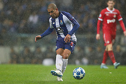November 6, 2018 - Porto, Porto, Portugal - Porto's Uruguayan defender Maxi Pereira in action during the UEFA Champions League, match between FC Porto and FC Lokomotiv Moscow, at Dragao Stadium in Porto on November 6, 2018 in Porto, Portugal. (Credit Image: © Dpi/NurPhoto via ZUMA Press)